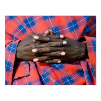 Maasai Man's Hands, Ngorongoro Conservation Postcard