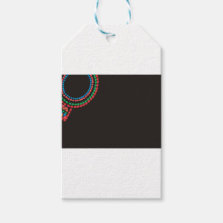 Maasai Necklace black background Gift Tags