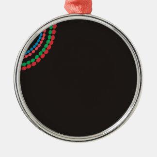 Maasai Necklace black background Metal Ornament