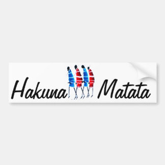 Maasai Worriors Hakunamatata Customize Product Bumper Sticker