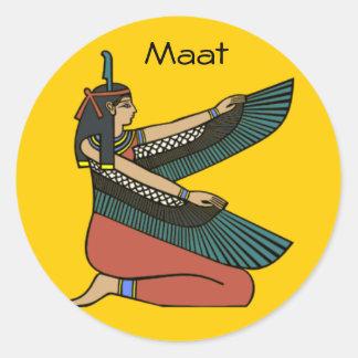 Maat 1 round sticker