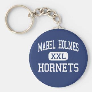 Mabel Holmes Hornets Middle Elizabeth Basic Round Button Key Ring