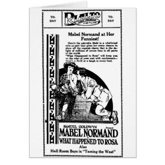 Mabel Normand What Happened to Rosa 1921 Card