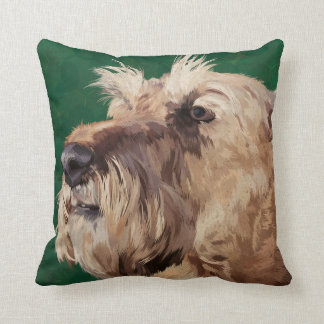 Mabel the Irish terrier Throw Pillow