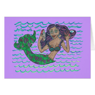 Mabel The Mermaid Card