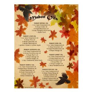 Mabon Oils Postcard