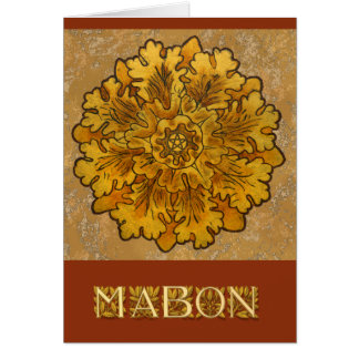 Mabon Round Oak Leaves Cluster Card