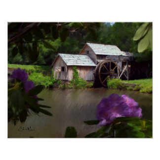 Mabry Mill - Painting Poster