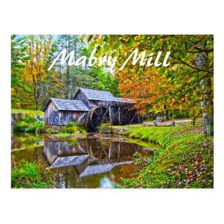 mabry mill virginia postcard