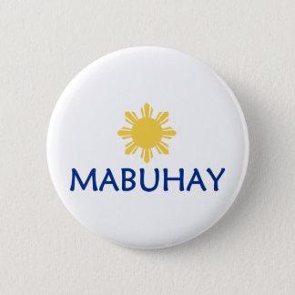 Mabuhay 6 Cm Round Badge