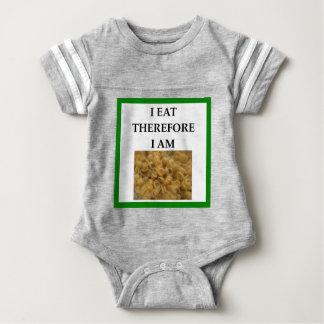 mac and cheese baby bodysuit