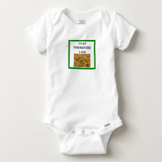 mac and cheese baby onesie