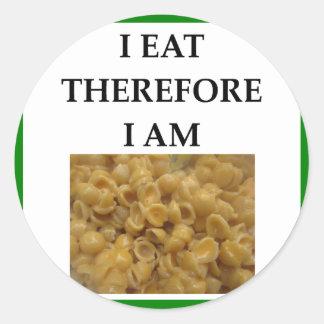 mac and cheese classic round sticker