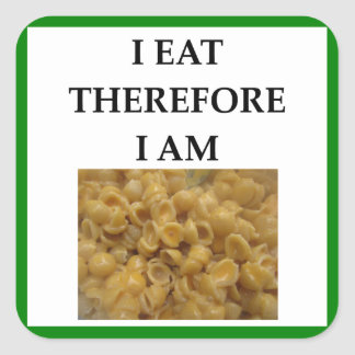 mac and cheese square sticker