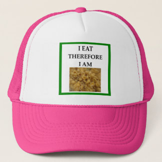 mac and cheese trucker hat