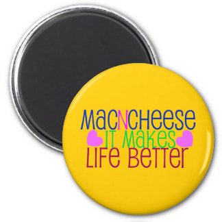 Mac & Cheese Life 6 Cm Round Magnet