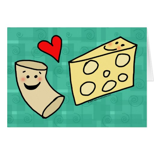 Mac Loves Cheese, Funny Cute Macaroni + Cheese Greeting Cards