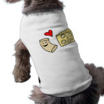 Mac Loves Cheese, Funny Cute Macaroni + Cheese Sleeveless Dog Shirt