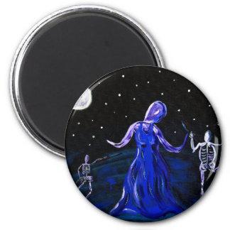 Macabre ghost gothic halloween Magnet 2 Inch Round Magnet