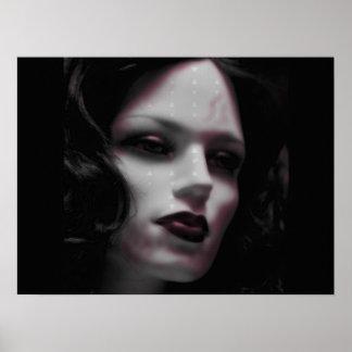 Macabre Lady Mannequin Print