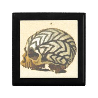 Macabre: Skull - New Guinea Small Square Gift Box