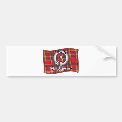 MacAlister Clan Bumper Stickers
