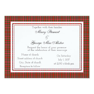 MacAlister Scottish Wedding Invitation