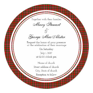 MacAlister Scottish Wedding Round Invitation