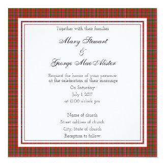 MacAlister Scottish Wedding Square Invitation