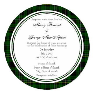 MacAlpine Scottish Wedding Round Invitation