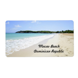 Macao Beach in the Dominican Republic Shipping Label