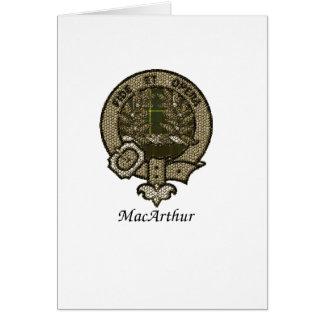 Macarhur Clan Crest Card