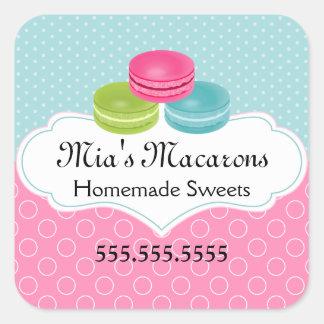 Macaron Bakery Box Seal