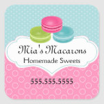 Macaron Bakery Box Seal Sticker