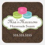 Macaron Bakery Box Seal Stickers