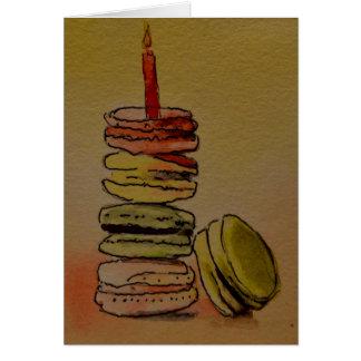 Macaron Birthday Blank Card