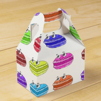 Macaron Cartoon Pattern Favour Box