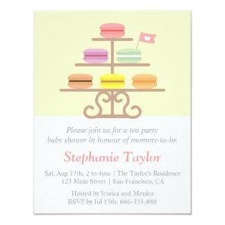 Macaron Dessert, Tea Party Baby Shower, Mum to Be 11 Cm X 14 Cm Invitation Card
