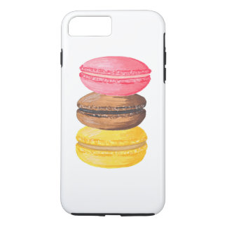 Macaron Illustration Sweets Watercolor Macaroons iPhone 8 Plus/7 Plus Case