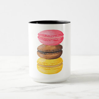 Macaron Illustration Sweets Watercolor Macaroons Mug