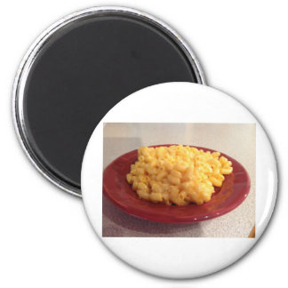 Macaroni and Cheese 6 Cm Round Magnet
