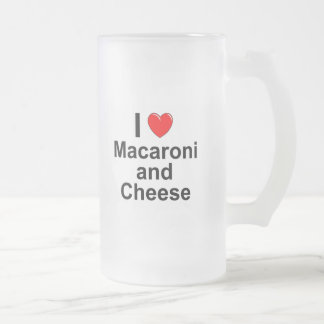 Macaroni and Cheese Frosted Glass Beer Mug