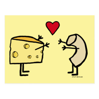 Macaroni and Cheese Love Postcard