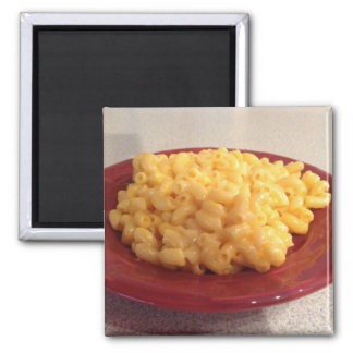 Macaroni and Cheese Square Magnet
