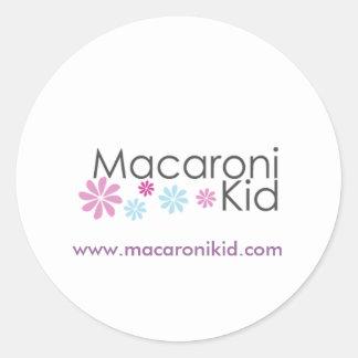 Macaroni Kid Round Stickers