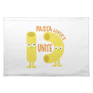 macaroni_pasta lovers unite cloth place mat