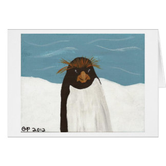 Macaroni Penguin Card