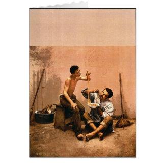 Macaroni seller, Naples, Italy vintage Photochrom Card