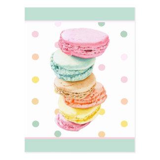 Macarons dots Postcard