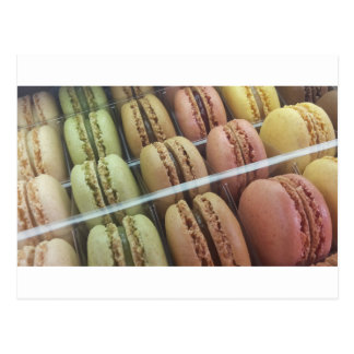 Macarons galore postcard